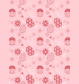 easter eggs and flower seamless pattern on pink vector image vector image