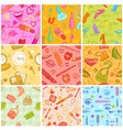 fashion cosmetic seamless pattern beauty vector image