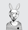 fashion of rabbit man vector image vector image