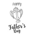 father day hand draw design background vector image vector image