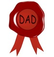Fathers Day Wax Stamp vector image vector image