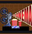 film projector movie ticket cinema vector image
