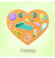 fitness heart vector image