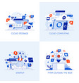 flat designed conceptual icons 2 vector image vector image
