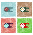 flat icon design collection space meteorite in vector image vector image