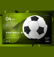 football ball bright modern site template vector image vector image