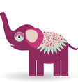 Funny elephant on a white background vector image vector image