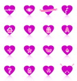 General symbol in heart shape on white background vector image vector image