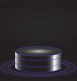glowing pedestal vector image
