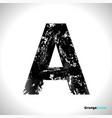 grunge letter a black font sketch style symbol vector image vector image