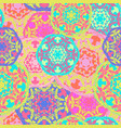 gypsy seamless pattern of abstract multicolored vector image