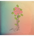 Hand-drawing vintage floral background with flower vector image