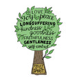 hand lettering the fruit of the spirit is joy vector image vector image