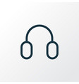 headphone outline symbol premium quality isolated vector image