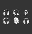 headphones icon set grey vector image