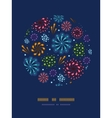 Holiday fireworks circle decor pattern background vector image