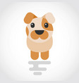 icon a cute dog in flat design vector image
