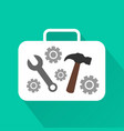 industrial modern design flat icon with long shado vector image