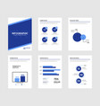 infographic brochure elements for business data vector image