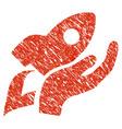 manual rocket launch icon grunge watermark vector image vector image