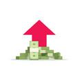 money growth flat cartoon vector image vector image