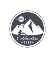 Mountain Coldwater Club Emblem Design vector image vector image