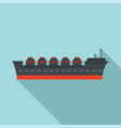 oil tanker ship icon flat style vector image vector image
