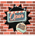 open label hanging retro style vector image vector image