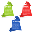 Options Paper Origami vector image