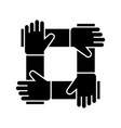 partnership - collaboration - help icon vector image vector image