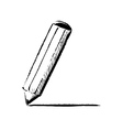Pencil fast doodle vector image vector image
