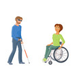 people with disabilities - woman in wheelchair vector image