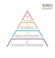 Pyramid triangle with 4 steps levels vector image vector image