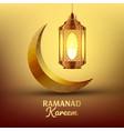 ramadan kareem greeting card islam lamp vector image