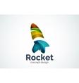 Rocket logo template vector image vector image