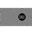 sale stylish geometric black and white background vector image vector image