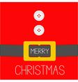 Santa Claus Coat golden belt Merry Christmas vector image vector image