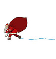 santa with a bag gifts christmas and new year vector image vector image