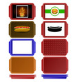 set of colorful salvers vector image vector image