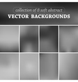 Set of eight blurred background vector image