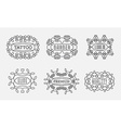 Set of Luxury Insignias Logotypes Template Retro vector image
