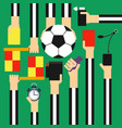 soccer referee design flat vector image