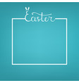 square template with lettering and space for text vector image vector image