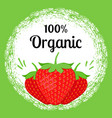 strawberry organic banner vector image vector image
