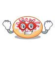 super hero jelly donut character cartoon vector image