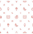 sweet icons pattern seamless white background vector image vector image
