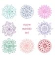 tattoo henna mandala set vector image vector image