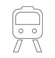 train icon design vector image vector image
