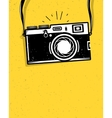 Vintage photo camera vector image vector image