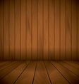 wooden laqured stage wall and flor background vector image